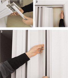 come installare porta a soffietto1